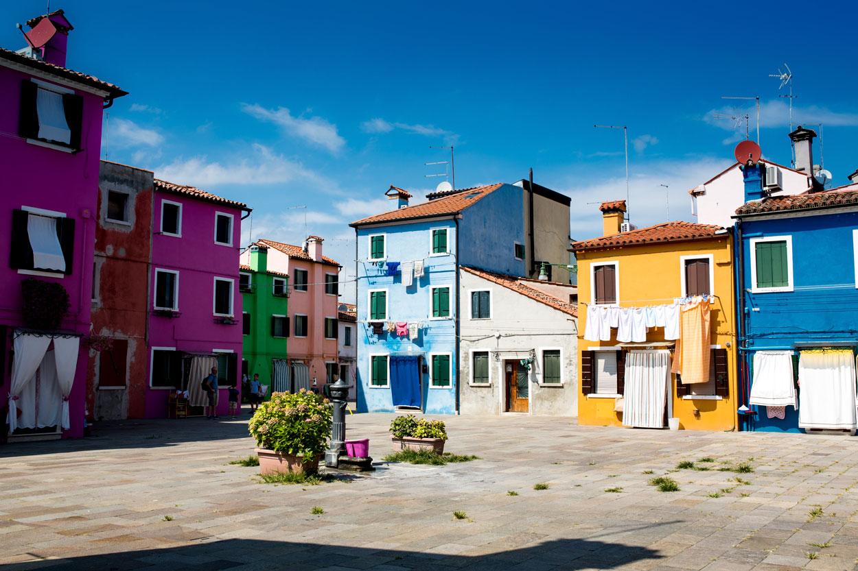 Bild: Burano bei Venedig in Italien
