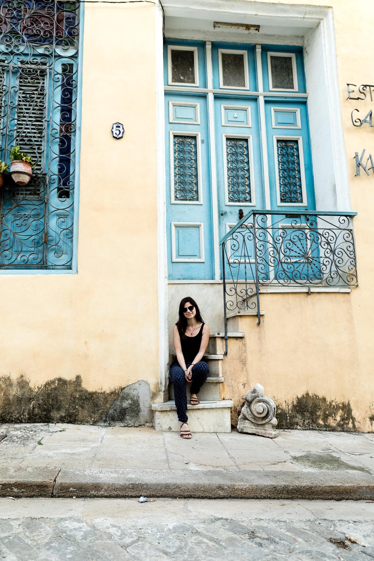 Bild: Hauseingang in Habana Vieja Havanna Kuba