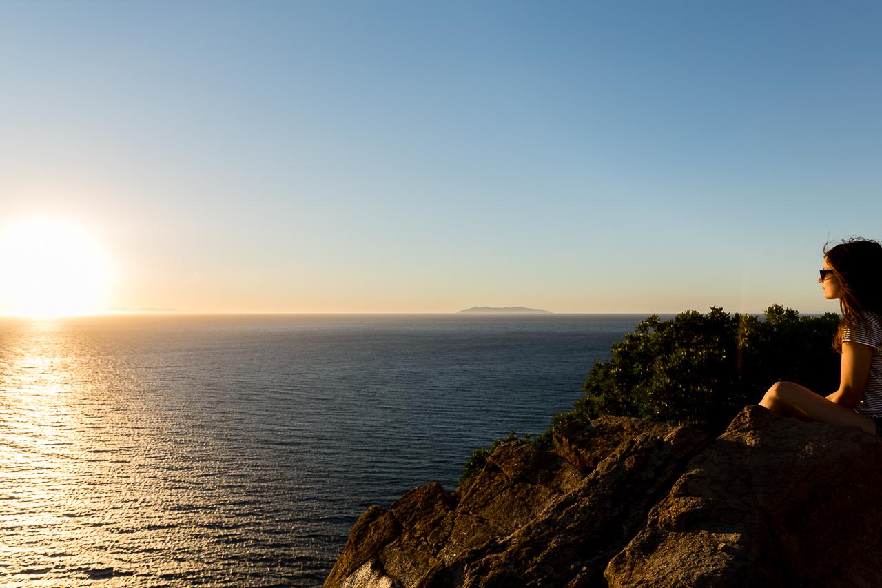 Bild: Sonnenuntergang auf der Insel Elba in Norditalien