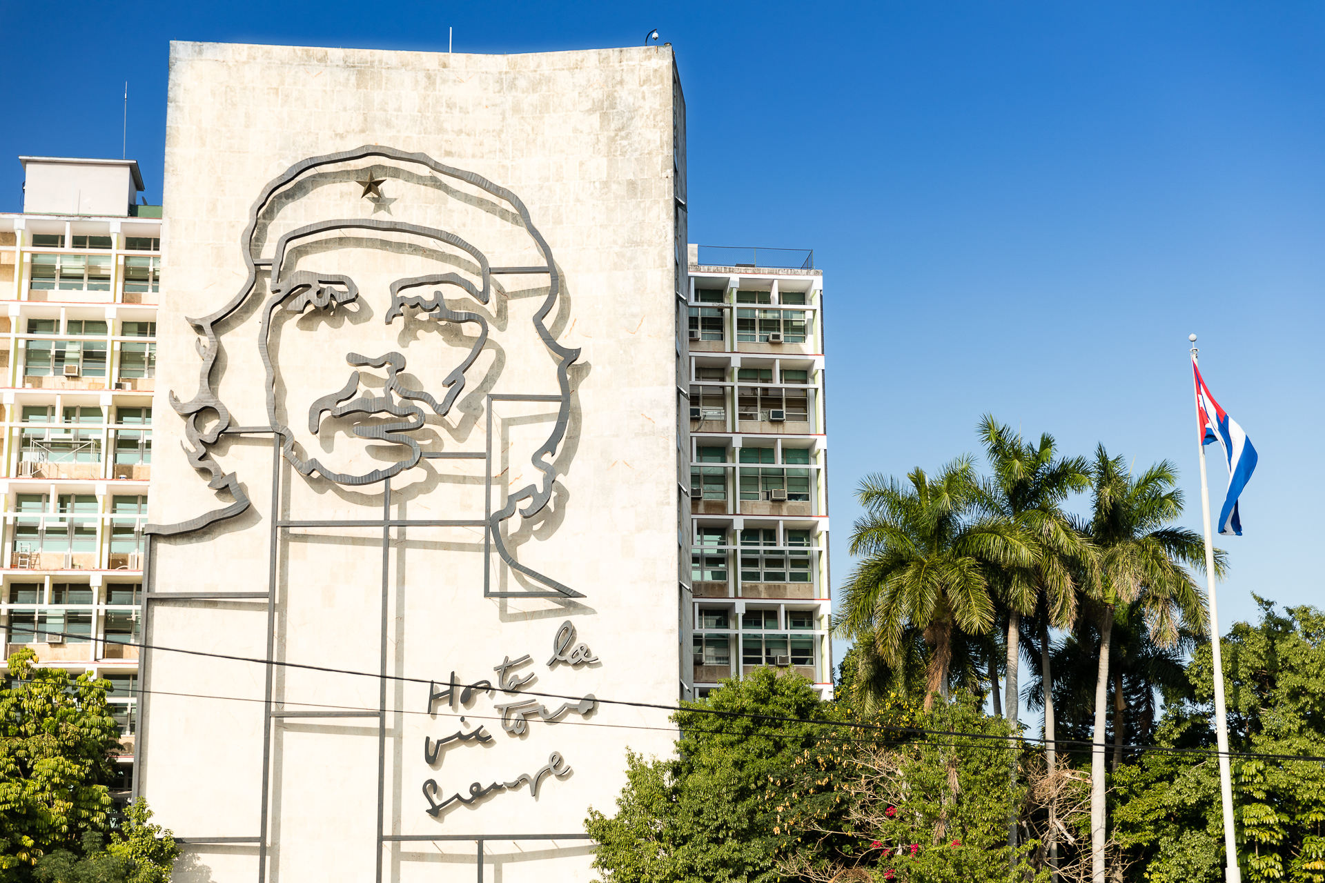 Bild: Che Guevara Konterfei am Plaza de la Revolution Havanna Kuba