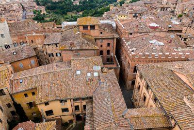 Bild: Siena von oben Toskana Italien