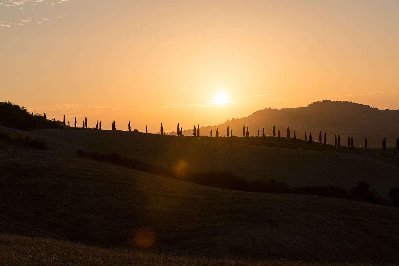 Bild: Sonnenuntergang in der Toskana in Norditalien