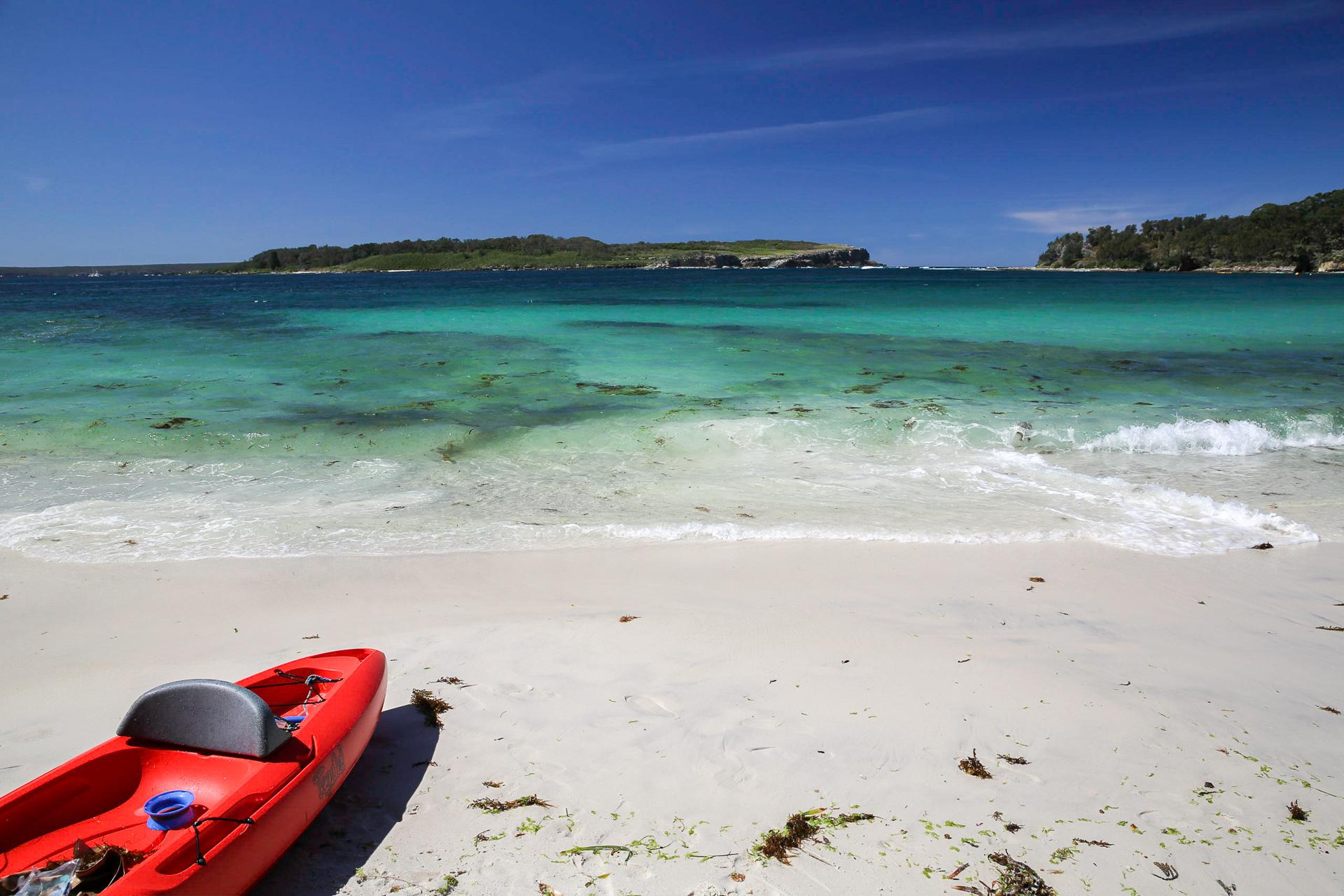 Bild: Strand in Huskisson Jervis Bay Australien