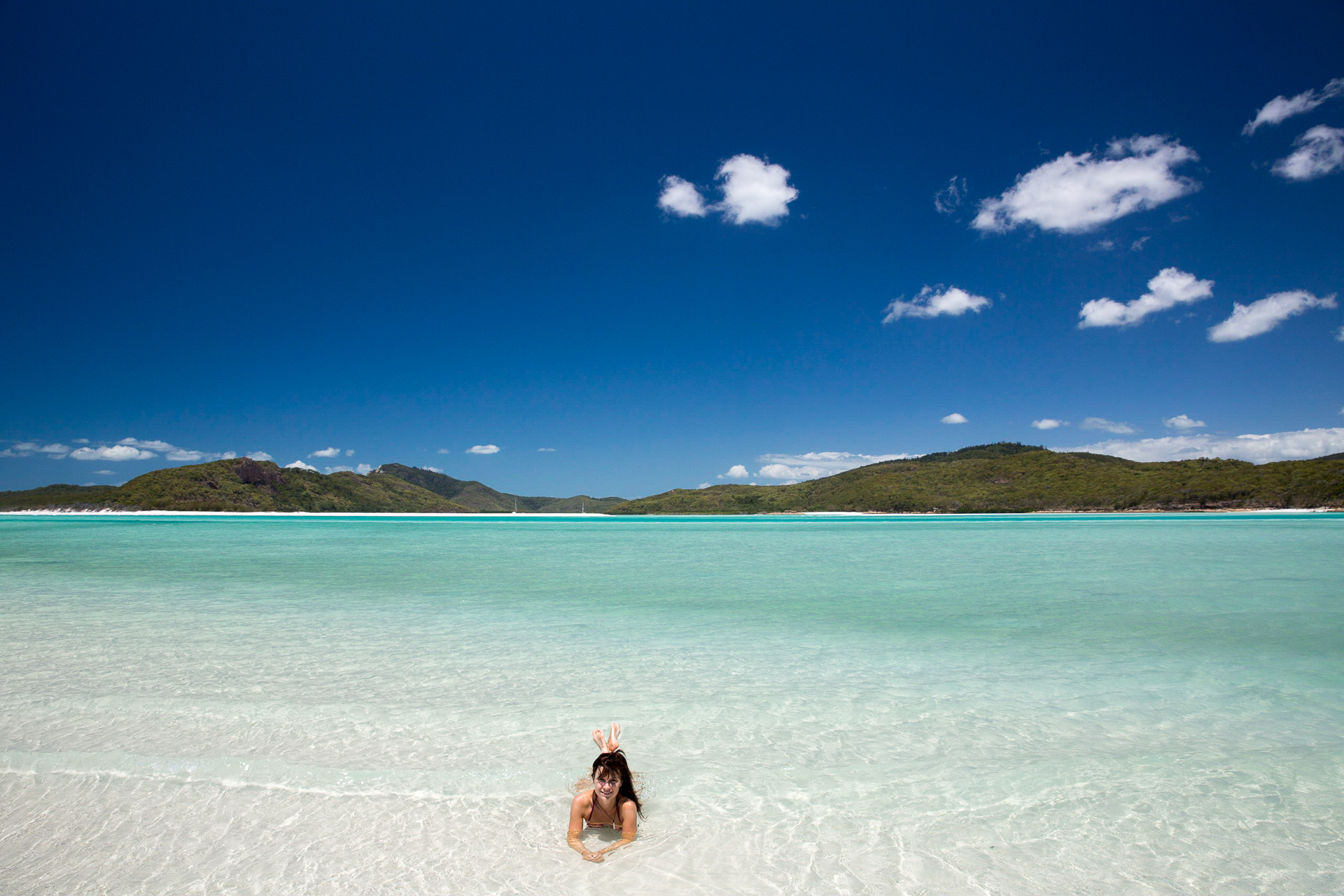 Bild: Baden am Whithaven Beach auf den Whitsunday Islands
