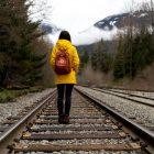 Bild: Bahngleise bei Whistler in Kanada