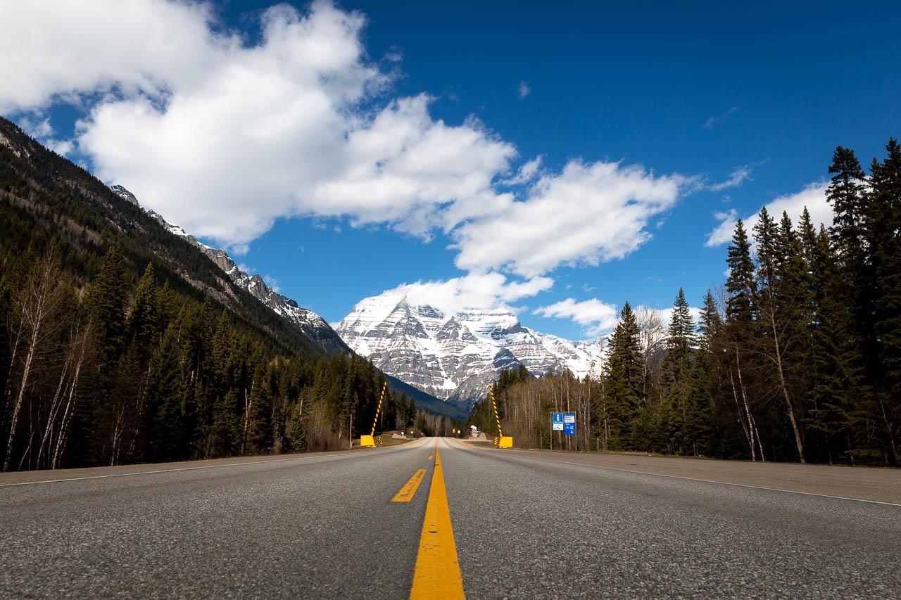 Bild: Highway 99 auf dem Weg in den Jasper Nationalpark in Kanada