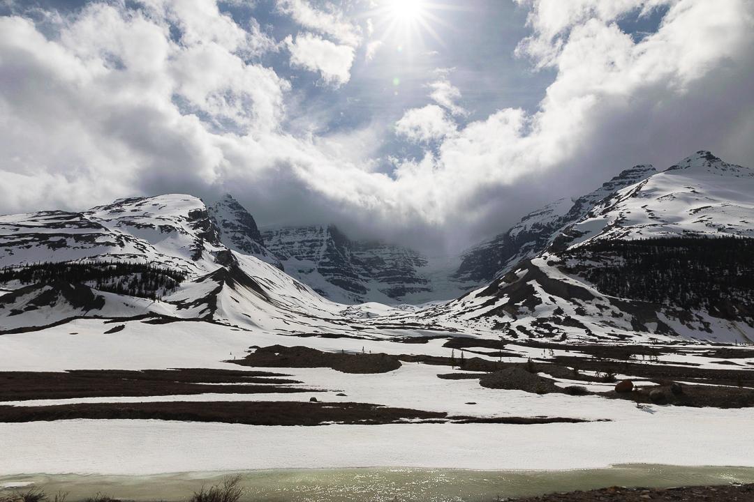 Bild: Columbia Icefields auf dem Icefields Parkway in Kanada