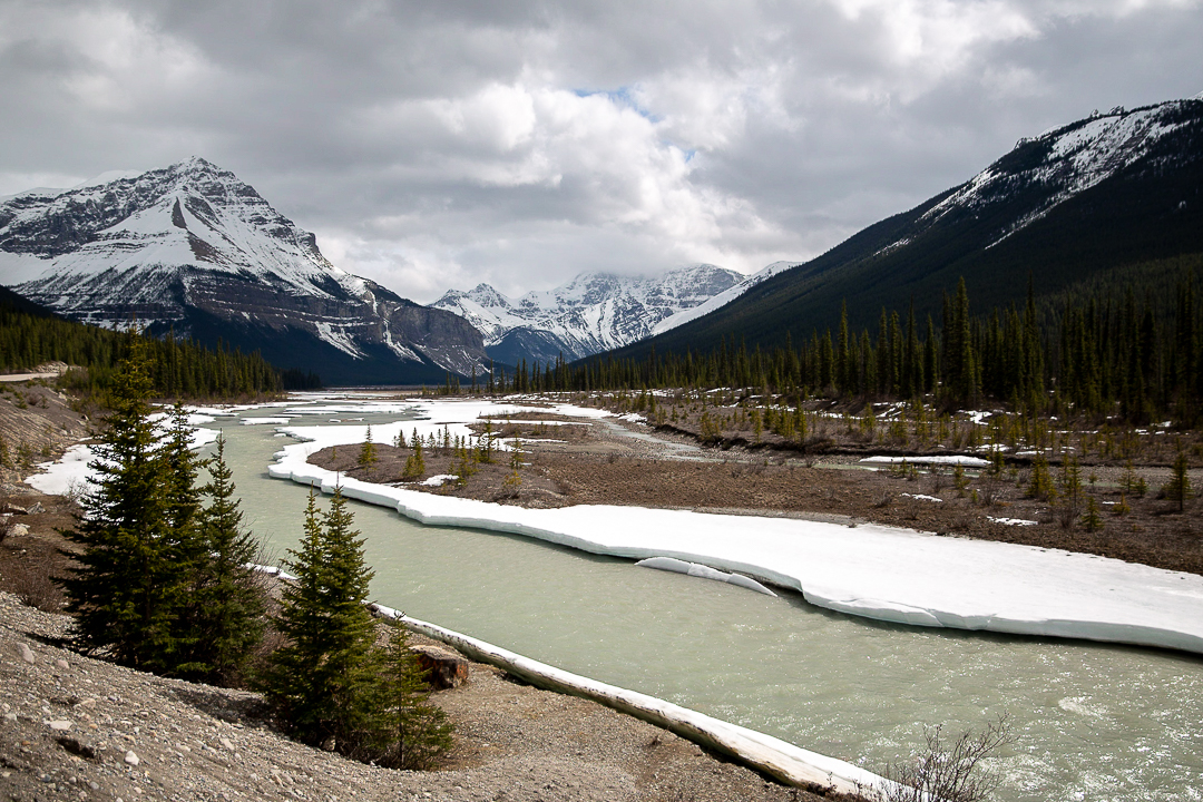 Bild: Icefields Parkway Tipps Fluss Gletscher Rocky Mountains in Kanada