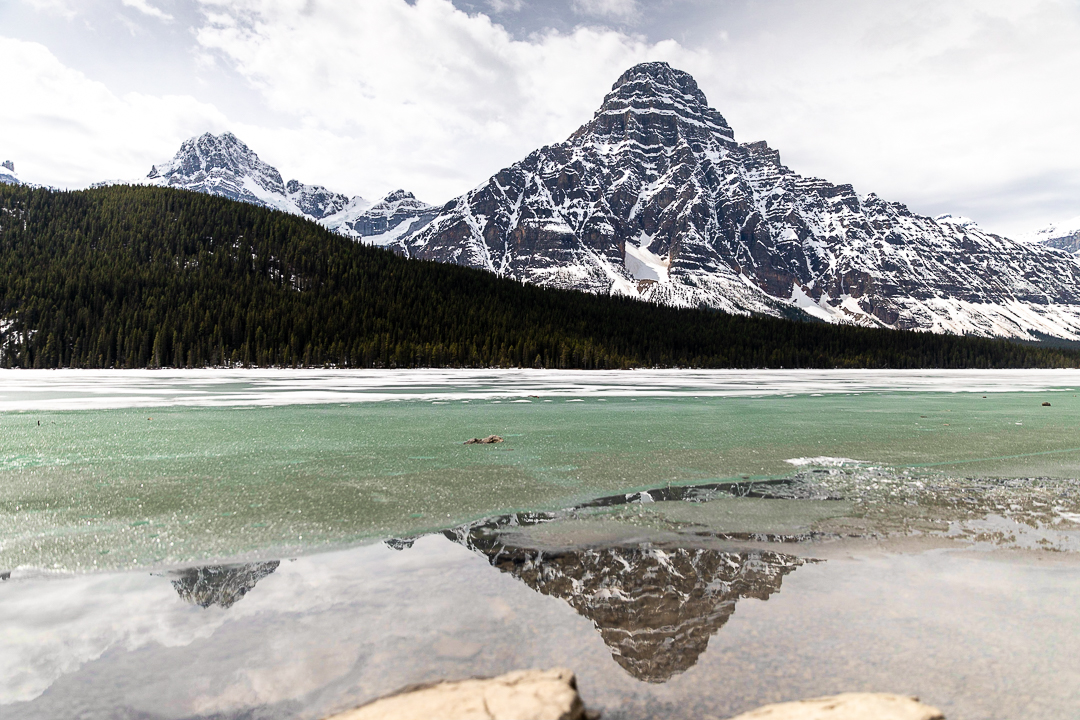 Bild: Icefields Parkway Tipps Mount Chepren und Waterfowl Lakes Rocky Mountains in Kanada