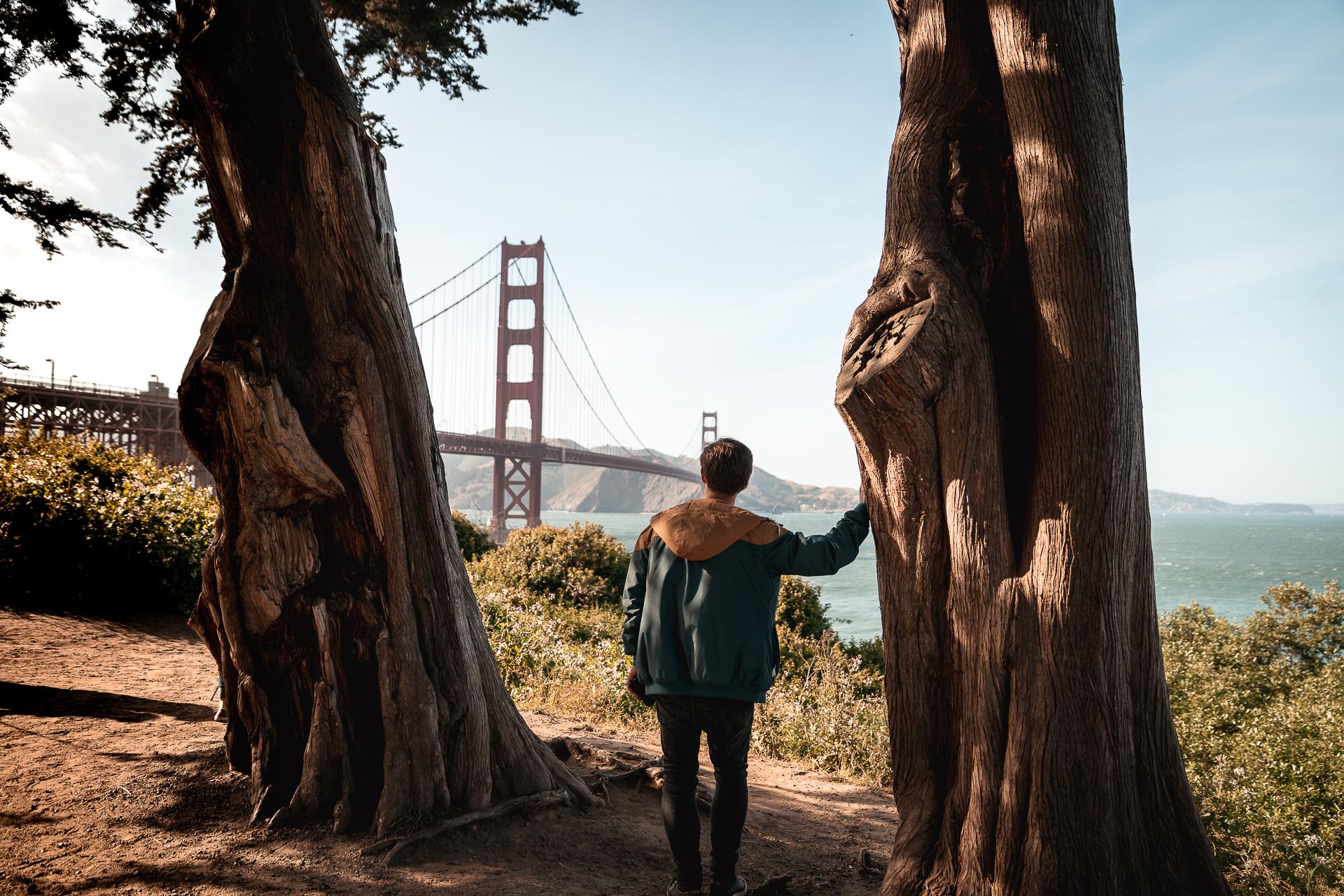 Tipps für bessere Reisefotos Reisefotografie San Francisco Golden Gate Bridge Fotospot Fotolocation Reisefotografie
