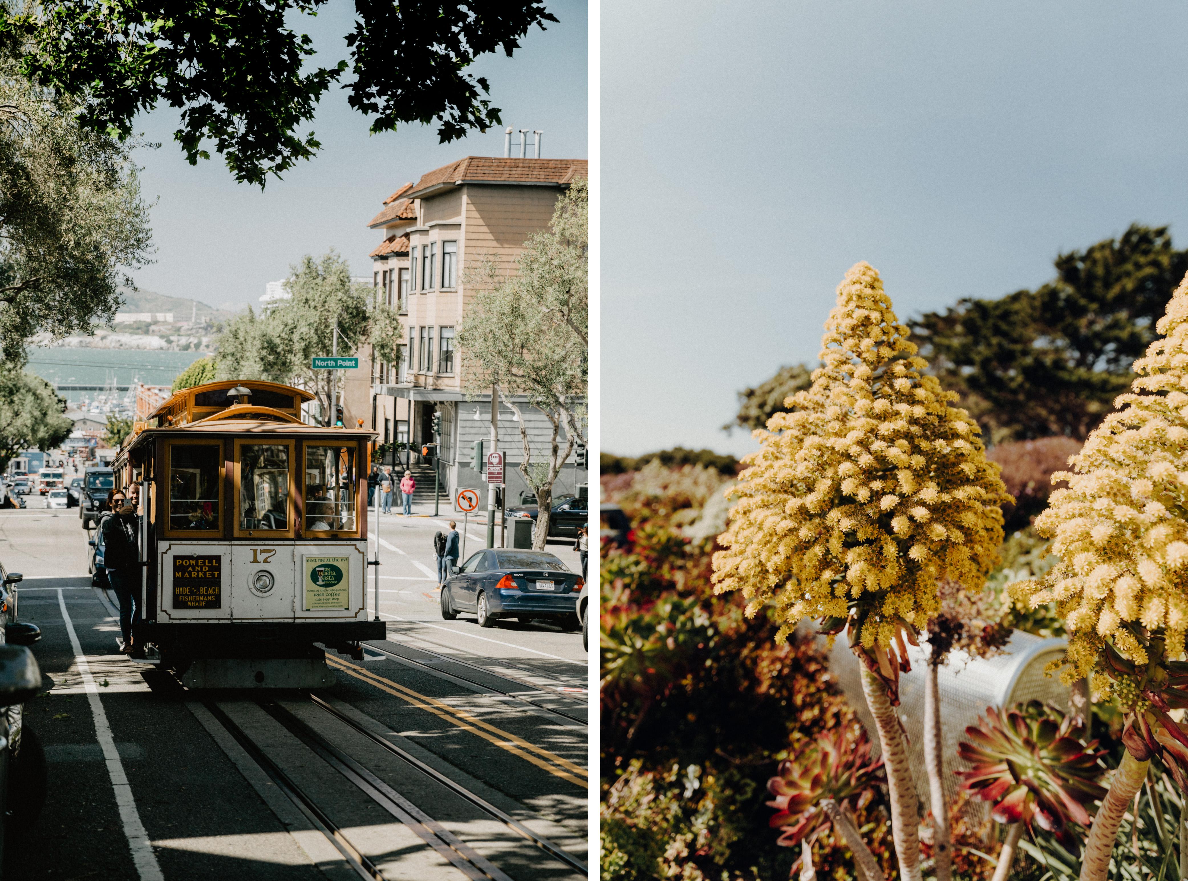 Cable Car in San Francisco Frühjahr