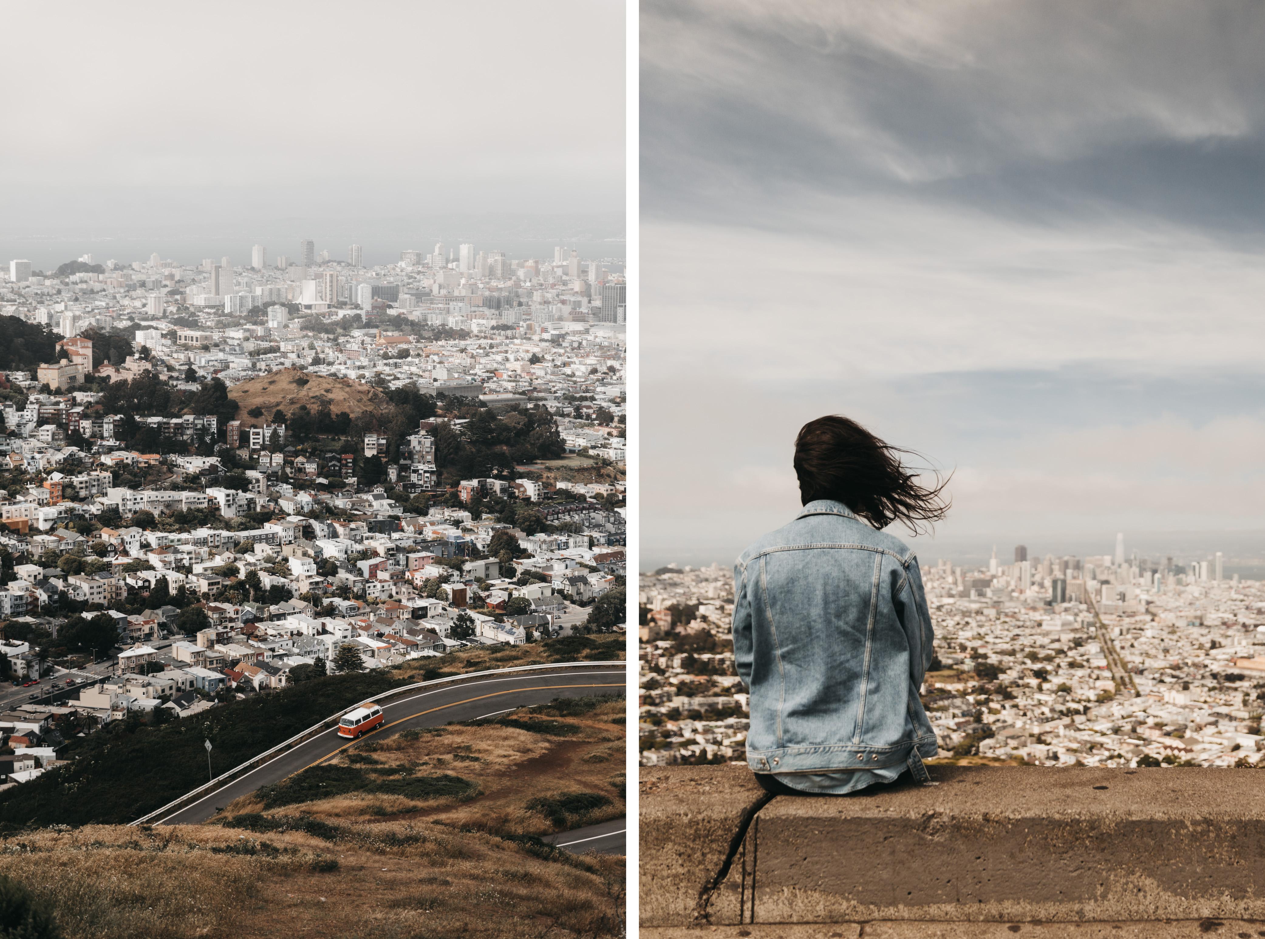 Twin Peaks San Francisco Aussichtspunkt Stadt