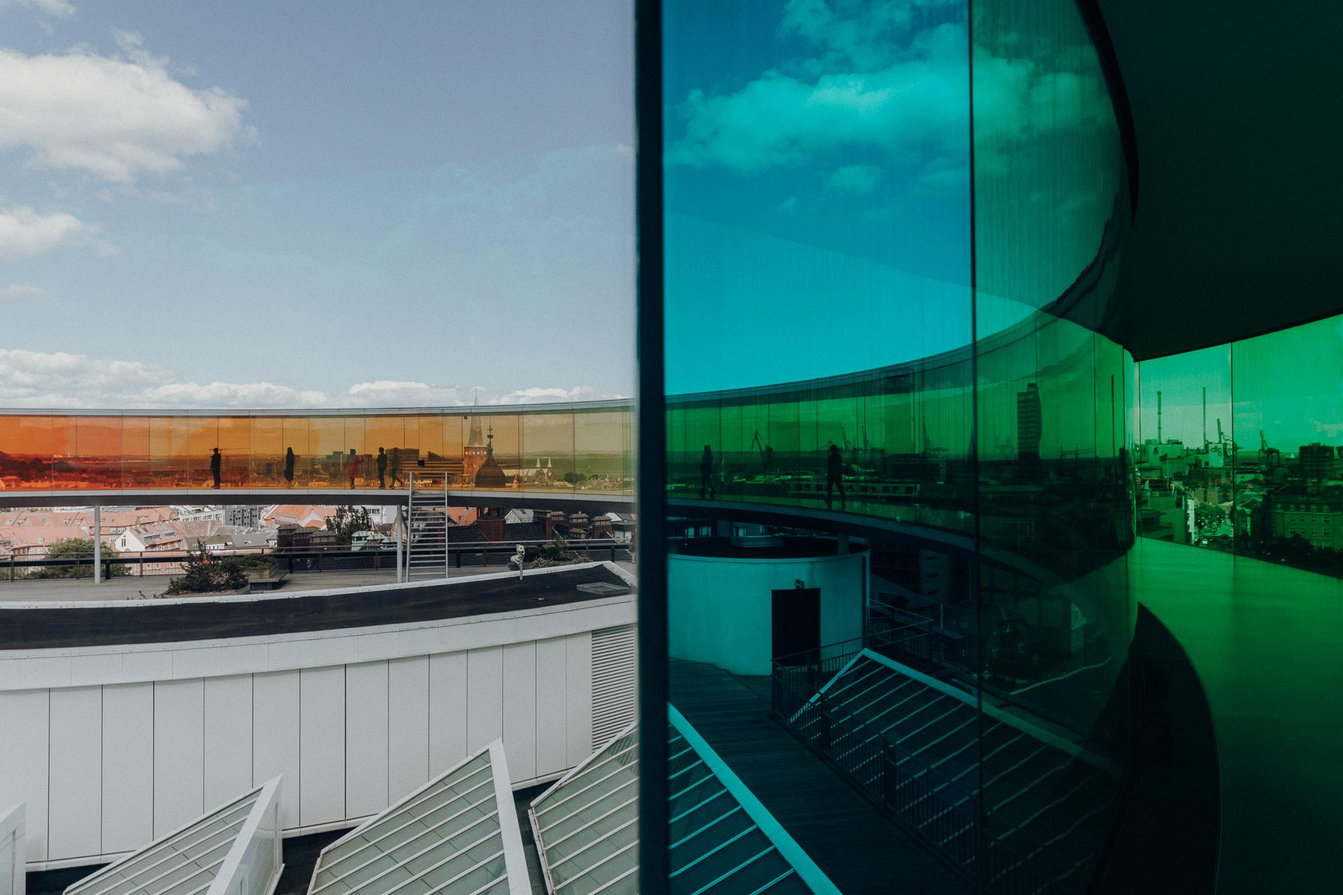 ARoS Kunstmuseum Regenbogen-Panorama in Aarhus
