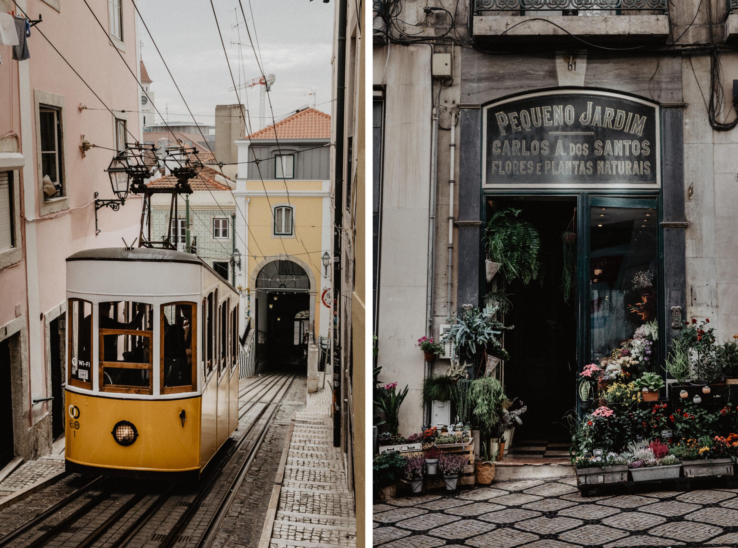 Sehenswürdigkeiten Highlight in Lissabon Straßenbahn Linie 28 Tram