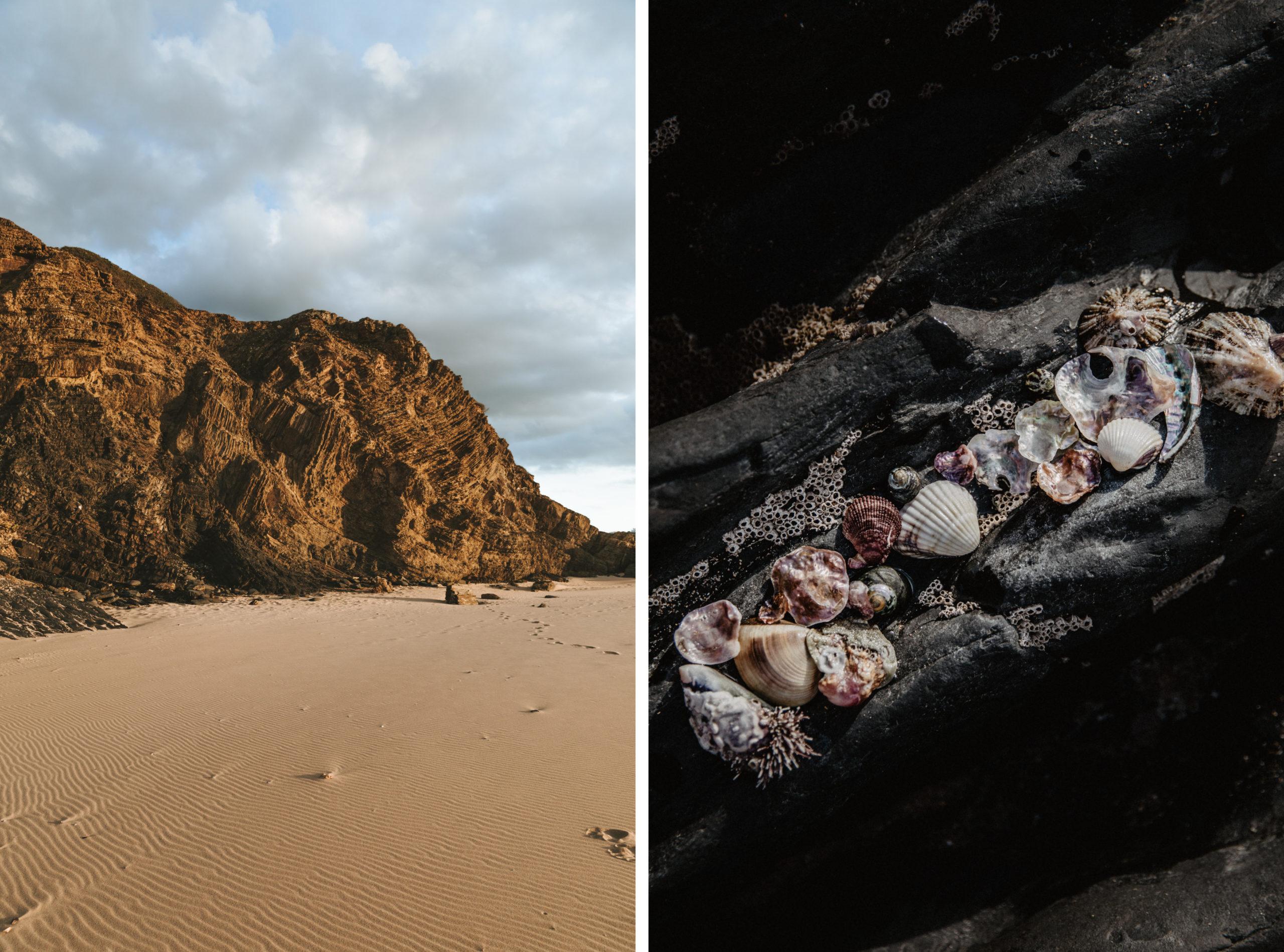Der Praia da Amoreira Strand an der Westküste von Portugal