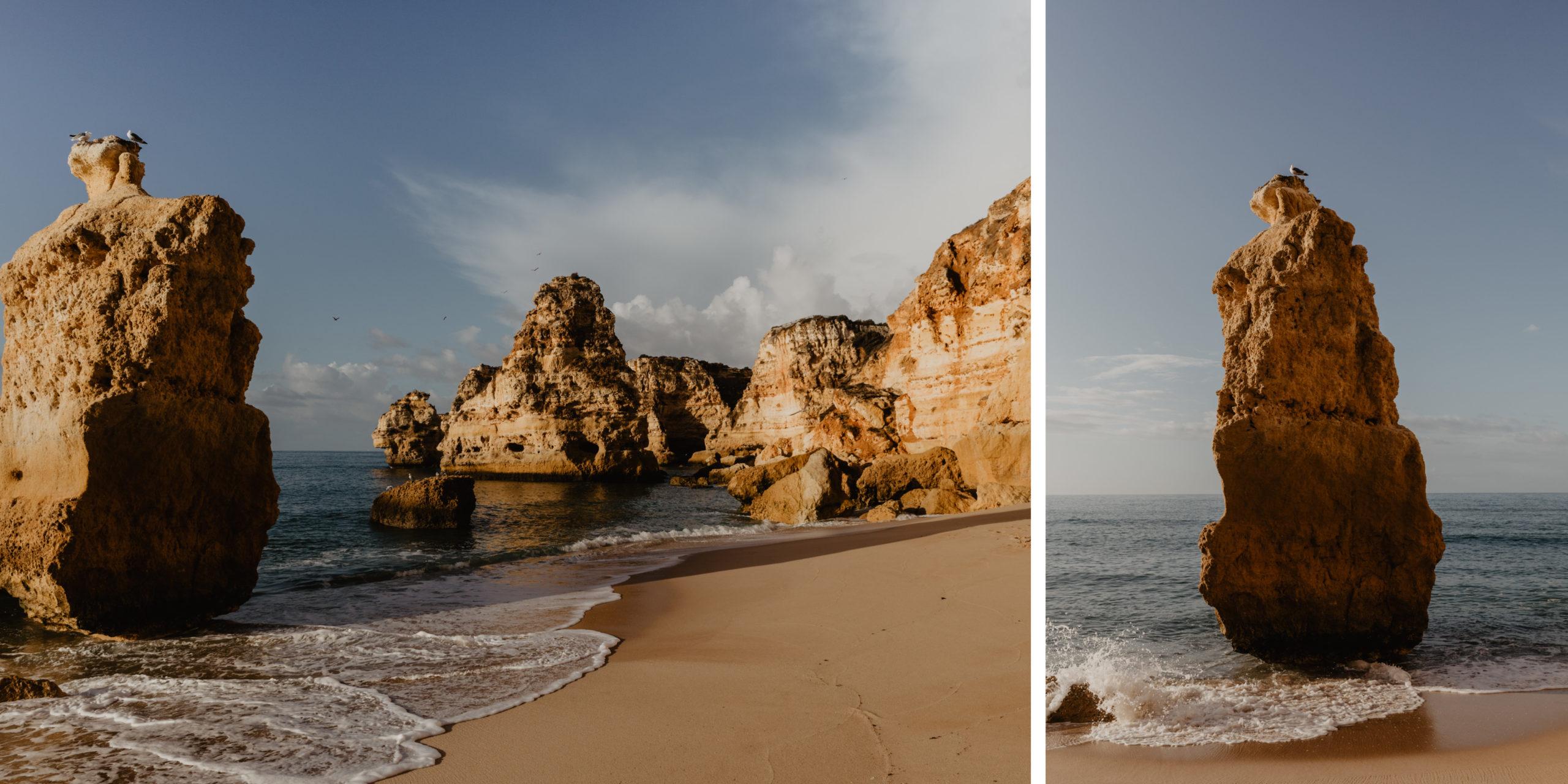 Praia da Marinha ander Algarve in Portugal einer der schönsten Strände Portugals