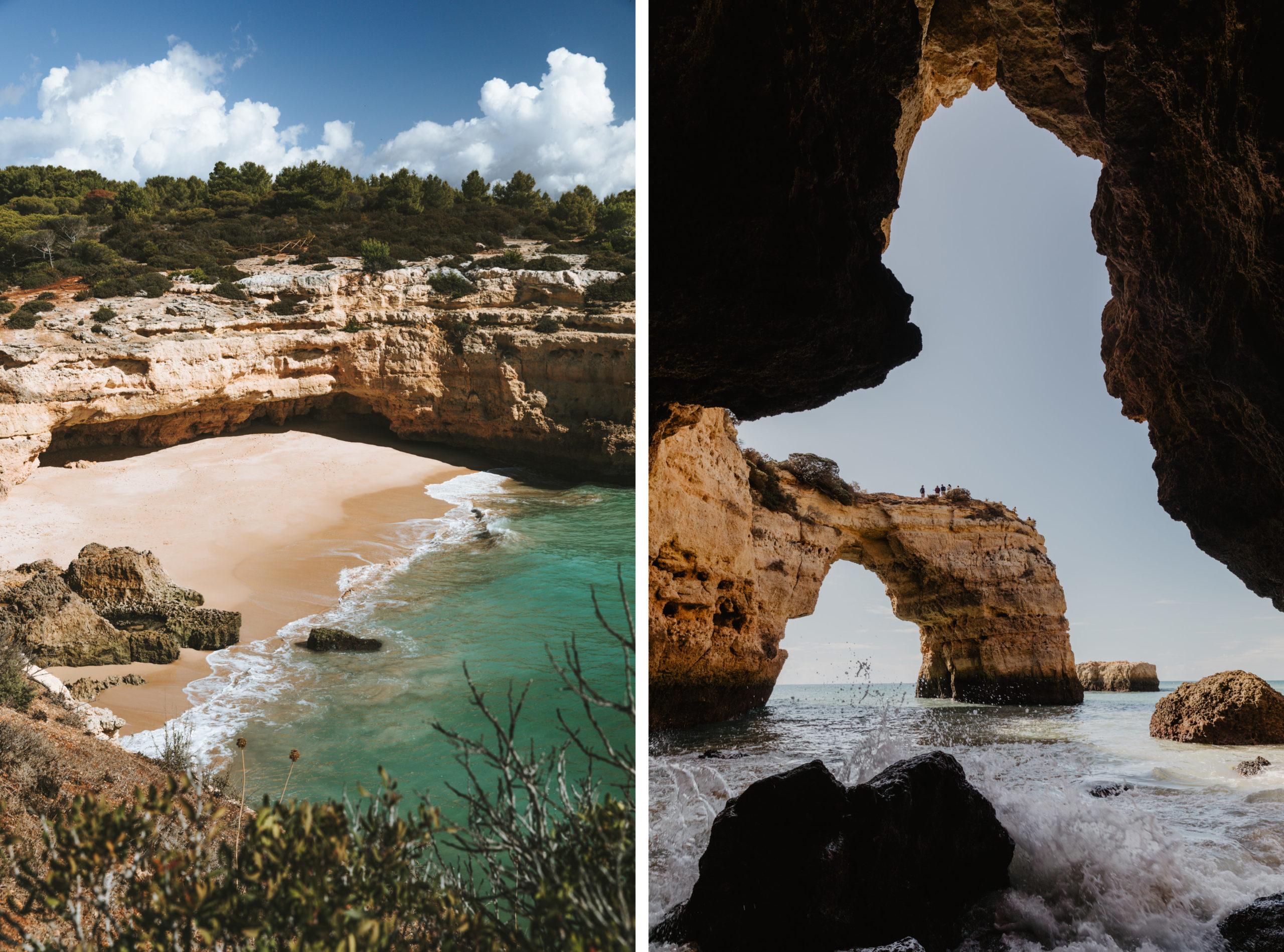 Strand Praia de Albandeira an der Algarve in Portugal