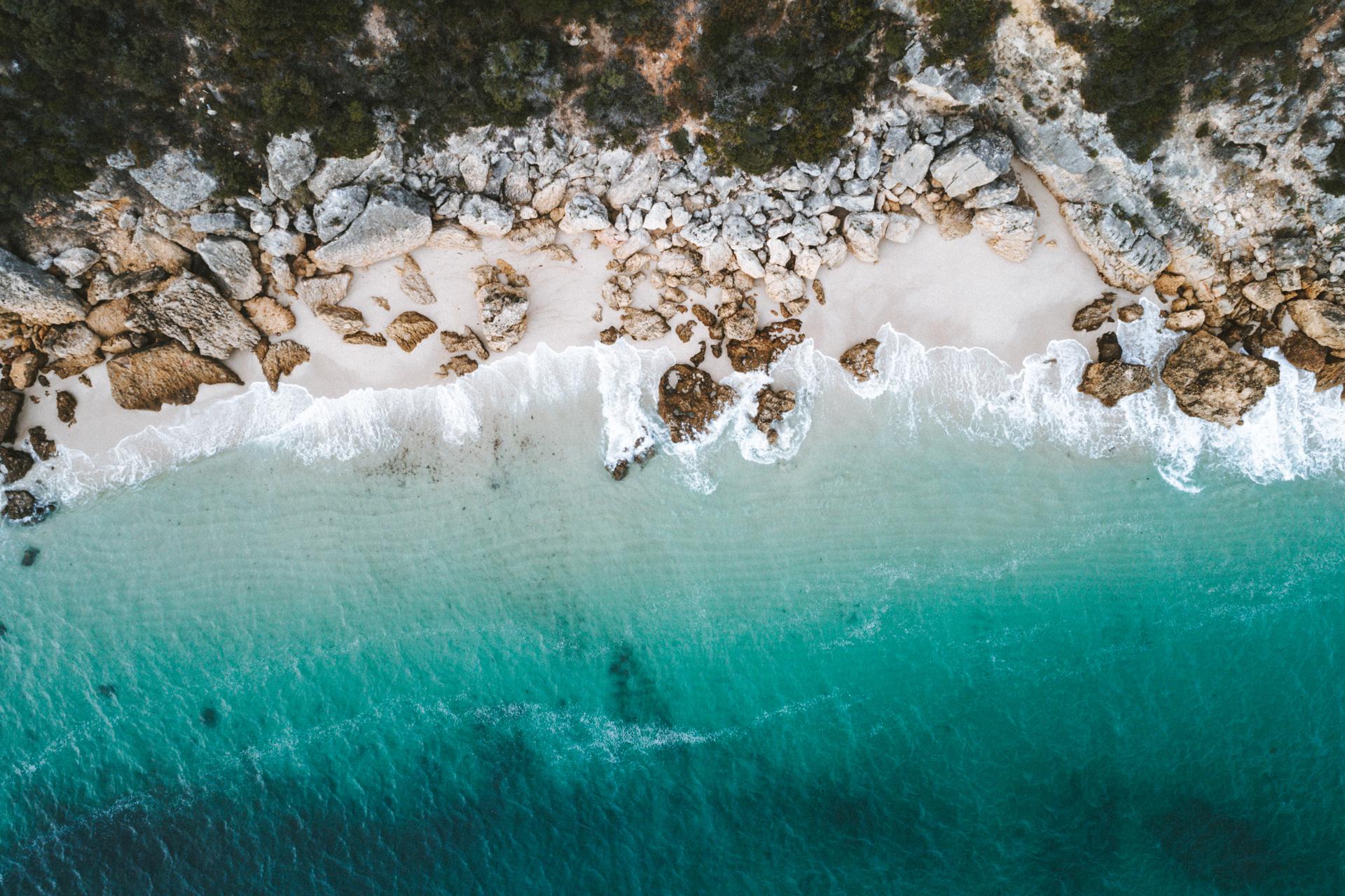 Strand Praia de Galapinhos bei Lissabon Ausflugsziel Traumstrand in Portugal