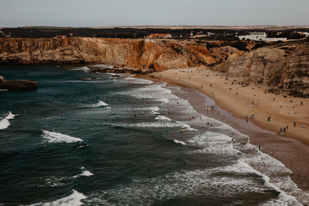 Strände zum surfen Praia do Tonel und Praia do Beliche bei Sagres in Portugal