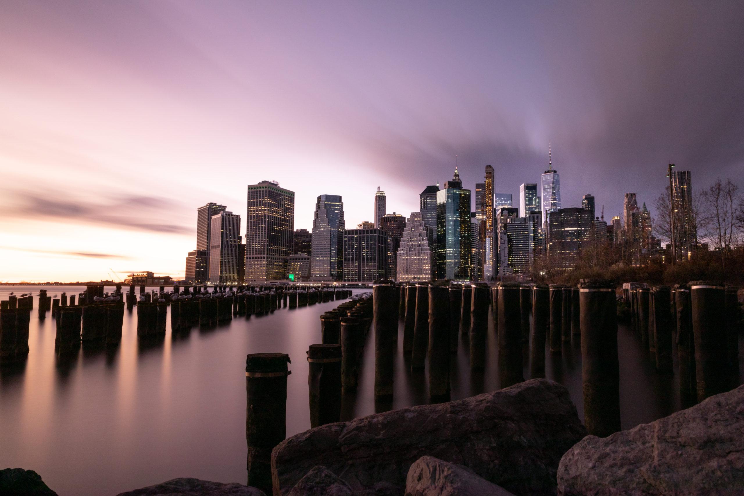 Die Skyline von New York City im Sonnenuntergang Fotospots Fotoorte