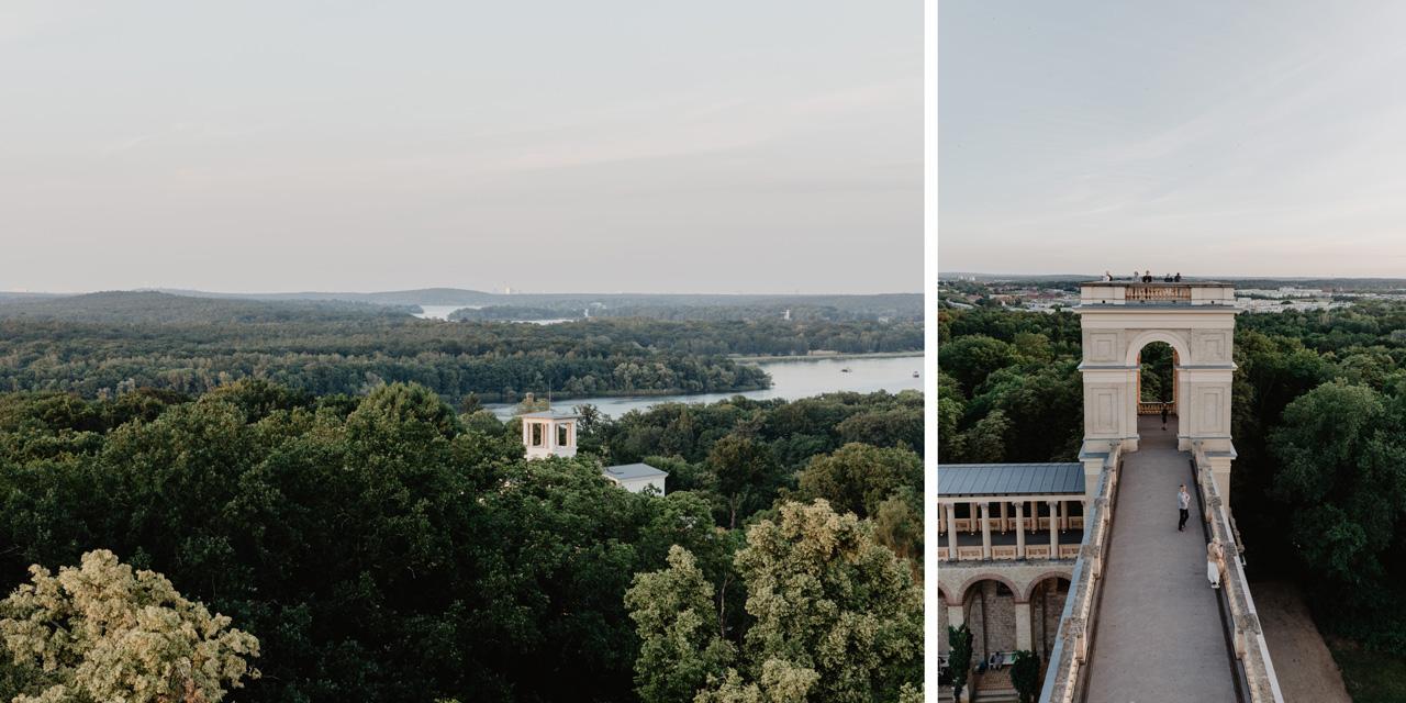 Aussicht vom Belvedere Pfingstberg Potsdam Schlösser Wanderung